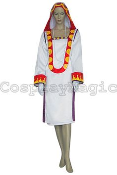 Final Fantasy X-2 White Mage Initial Staff Yuna Cosplay Costumes - CosplayMagic.Com