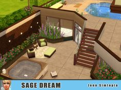 Live the dream life! Found in TSR Category 'Sims 4 Residential Lots' Sims 2 House, Sims 4 House Plans, Sims 4 House Building, Sims 4 House Design, Sims 4 Houses Layout, House Layouts, Sims 3 Houses Ideas, Sims 4 Pets, Casas The Sims 4