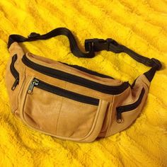 Soft leather fanny pack Who cares what some people say… Fanny packs are awesome! Bags