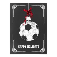ms chalkboard soccer player christmas cards