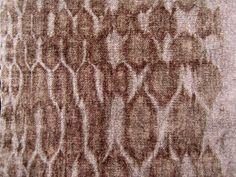 discharged silk chenille shibori