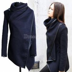 Women's Boyfriend Style Wool Long Trench Warm Slim Jacket Coats Overcoat Outwear