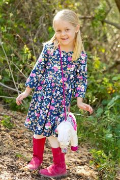 Blooming Pasture Jersey Dress