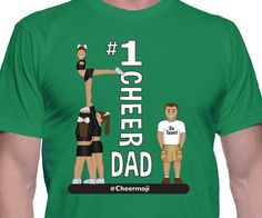 This cheerleading shirt is the perfect Father's Day gift for cheer dads!