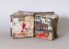 Artist handmade book | As the night comes on by Linda Welch