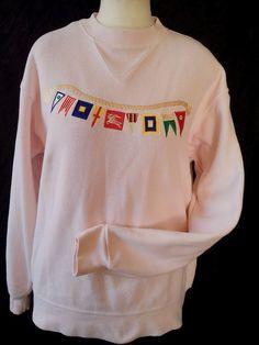Burberry's 100% cotton   Sportswear  England size s, US -XL pink #Burberrys #Crewneck