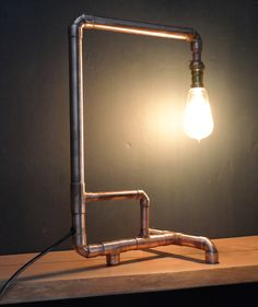 Hand made copper pipe lamps                                                                                                                                                                                 Más