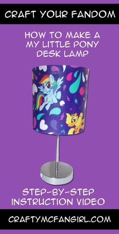 Create your own My Little Pony Room Décor. Make this DIY lamp for your My Little…