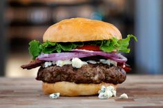 We've got your blue covered... you figure out the red and white. Bacon Bleu Burger via spiceologist.com. #wabeeflove