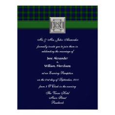 330 best evening wedding invitations images on pinterest evening evening wedding invitation black watch tartan stopboris Choice Image