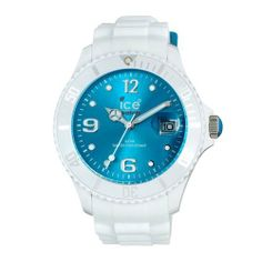Ice Men's SIWTBS10 Ice-White Turquoise Dial with White Bracelet Watch Ice-Watch. $104.00. Turquoise dial with silver-tone indexes. Water-resistant to 165 feet (50 M). Buckle clasp. Large white silicone bracelet. Silver-tone hour hands; Sweep second hand