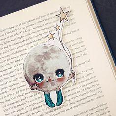 Moonita bookmark by ribonitachocolat on Etsy