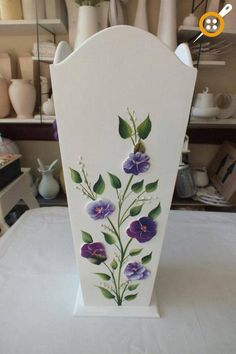 Wood Painting Umbrella Stand – Wood Works – Just another WordPress site One Stroke Painting, Tole Painting, Fabric Painting, Painting On Wood, Flower Vases, Flower Art, Bois Diy, Decoupage Art, Handmade Home Decor