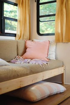 Couch Redo, Dorm Couch, Rv Sofa Bed, Couch Makeover, Couch Cushions, Camper Makeover, Camper Furniture, Diy Furniture Couch, Diy Sofa