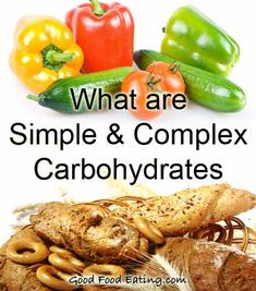 All about simple and complex carbohydrates: including lists of food types.