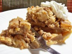 "Pennsylvania Dutch Apple Crumb Pie: ""From my falling-apart cookbook 'Best-Loved Pennsylvania Dutch Recipes.' Simple ingredients, easy assembly and spectacular presentation!"" -Kat's Mom #UltimateThanksgiving"
