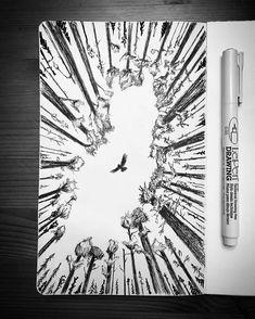 Resultado de imagen para nature drawing pen & ink moleskine