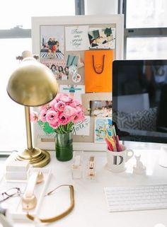 gold lamp and initials mug