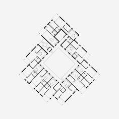 Waidmatt Zürich-Affoltern Projektwettbewerb 2016 Genossenschaftlicher Wohnungsbau Islamic Center, Secret Space, Floor Plans, Flooring, How To Plan, Bern, Prison, Spaces, Architecture Visualization