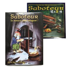 Saboteur 1 & Saboteur 1+2 Expansion // Price: $19.95 & FREE Shipping Worldwide //  We accept PayPal and Credit Cards.    #gameronboard #boardgame #cardgame #game #puzzle #maze #toys #chess #dice #kendama #playingcards #tilegames