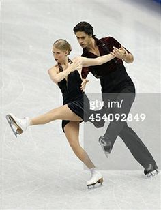 FUKUOKA, JAPAN - DECEMBER 07: Kaitlyn Weaver and Andrew Poje of Canada compete in the ice dance free dance during day three of the ISU Grand Prix of Figure Skating Final 2013/2014 at Marine Messe Fukuoka on December 7, 2013 in Fukuoka, Japan. (Photo by Atsushi Tomura/Getty Images)