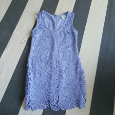Forever 21 small purple v neck lace dress Size small Never worn V neck purple lace dress Cut v neck professionally done Forever 21 Dresses Mini