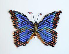 Blue Morpho Butterfly  Pattern and Tutorial di WizardIslandDesigns