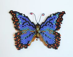 Blue Morpho Butterfly Pattern and Tutorial by WizardIslandDesigns