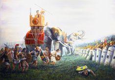 Batalla de Ilipa, primavera del 206 aC entre los ejércitos romano y cartaginés