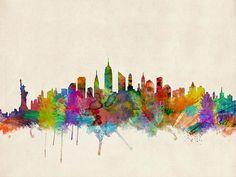 """New York City Skyline"" by Michael Tompsett on Fine Art America"