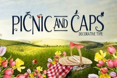 Check out Picnic Caps Font by DesignSomething on Creative Market