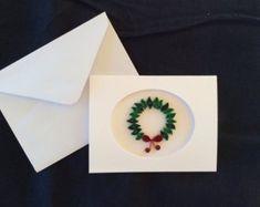 Tarjeta de Navidad del Poinsettia quilled por QuillingsByDeb