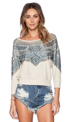 AMUSE SOCIETY Marley Fleece Top in Oatmeal Heather | REVOLVE