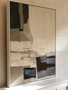 Tonal abstract canvas collage oil painting