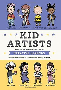 In the same style as Kid Presidents and Kid Athletes, Kid Artists introudces you to childhood stories from sixteen well known artists around the world. Kids will relate to these famous artists stories and struggles and realie that they can grow up to do great things too.