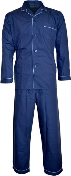 ORIGINMENSWEAR Pjs Haigman Plain Polycotton Nightwear Pajama Set -- Awesome products selected by Anna Churchill