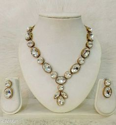 Checkout this latest Jewellery Set Product Name: *Trendy Kundan Choker Necklace Set* Country of Origin: India Easy Returns Available In Case Of Any Issue   Catalog Rating: ★4.4 (3420)  Catalog Name: Free Gift Kundan Choker Necklace Sets CatalogID_91990 C77-SC1093 Code: 481-801841-423