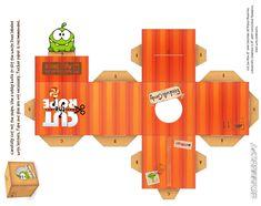 Om-Nom Gift Box Cubeecraft by ~viperfan14 on deviantART