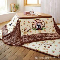 Kiki's Delivery Service FUTON & MAT SET for Kotatsu Foot Warmer Y rectangle type in Collectibles, Animation Art & Characters, Japanese, Anime Decorating Your Home, Diy Home Decor, Futon Sets, Japanese Apartment, Japanese Interior Design, Japanese Home Decor, Japanese House, Modern Design, Futon Covers