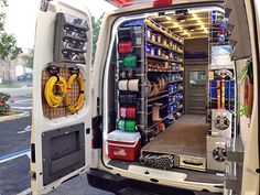 Well-organized work vans can improve technicians' productivity with special storage, lighting, and mobile technology. Van Storage, Trailer Storage, Truck Storage, Karting, Van Racking Systems, Van Insulation, Van Organization, Basic Electrical Wiring, Van Shelving