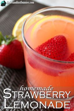 Homemade strawberry lemonade is so refreshing and it's the perfect drink to cool you down as the summer sun begins to make its appearance!