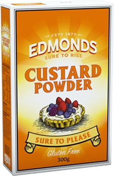 Edmonds Custard Powder makes a creamy Gluten Free treat that the whole family will love. Tastes great with thick fruit puree or chocolate melted into the hot custard. Or use to create that Kiwi favourite - Edmonds Custard Square. Custard Powder Recipes, Custard Recipes, Fruit Puree, Gluten Free Treats, Sugar Cravings, Melting Chocolate, Sweet Tooth, Milk, Desserts