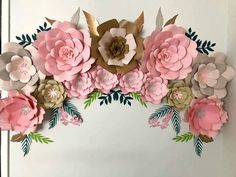 94 best paper flower diy videos images on pinterest giant paper bohemian style flower wall with accompanying greenery by thecraftysagannie on etsy mightylinksfo
