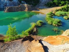 Explore Rudabánya and the deepest lake in Hungary Desert Island, Tropical Beaches, Crystal Clear Water, I Want To Travel, During The Summer, Natural Wonders, Cover Photos, Geology, Budapest