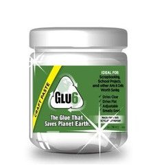 Glu6 Craft Paste. Eco-friendly sustainable craft paste  made from recycled styrofoam.