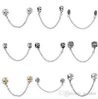 50pcs Mix Style Silver plated Fashion Safety Chain European ...
