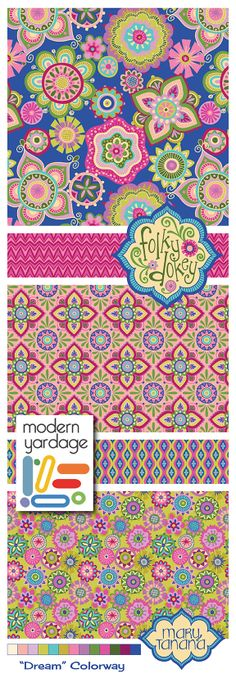 """Folky Dokey Collection, """"Dreams"""" colorway by Mary Tanana"""