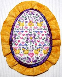 Cross stitch Easter Egg