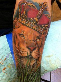 Amazing King Lion Tattoo