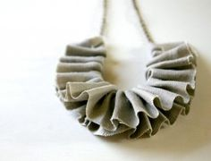 frilly necklace